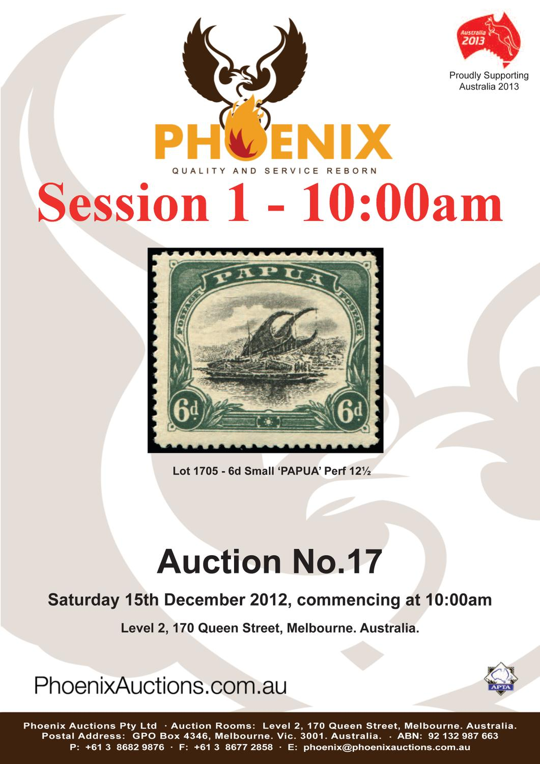 Auction 17 Sesssion 1 by Phoenix Auctions Pty Ltd - issuu