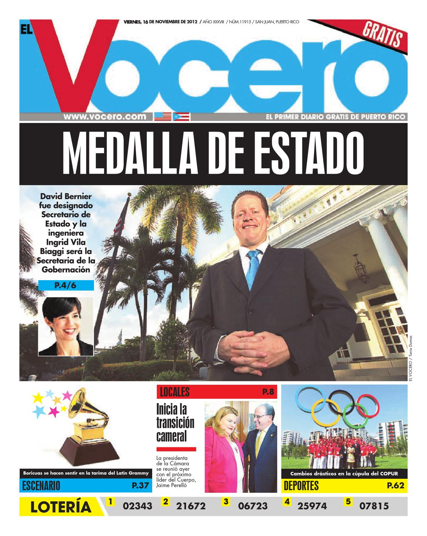b6da6d7e3ad69 Edición 16 de Noviembre 2012 by El Vocero de Puerto Rico - issuu