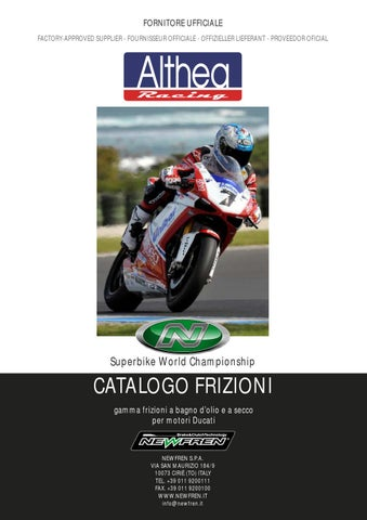 Newfren Catalogo Frizioni Ducati by CIR Moto - issuu