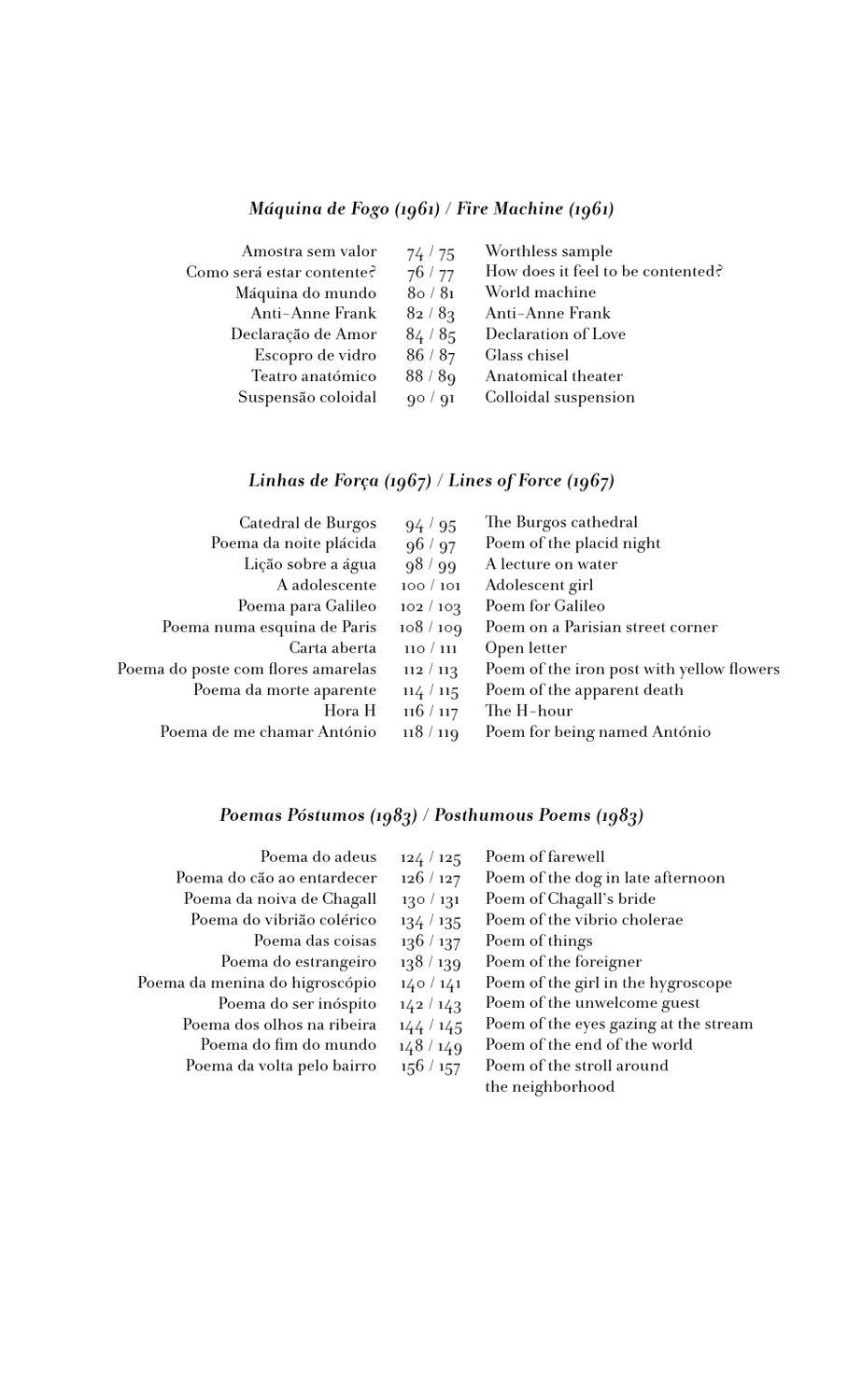 Excerto Da Edição Bilingue Do Livro Poemaspoems De António Gedeão