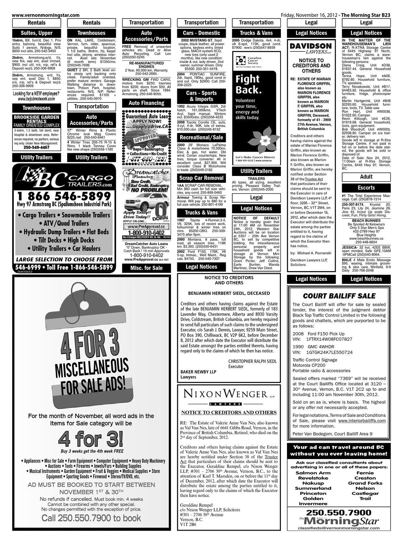 Vernon Morning Star, November 16, 2012 by Black Press Media