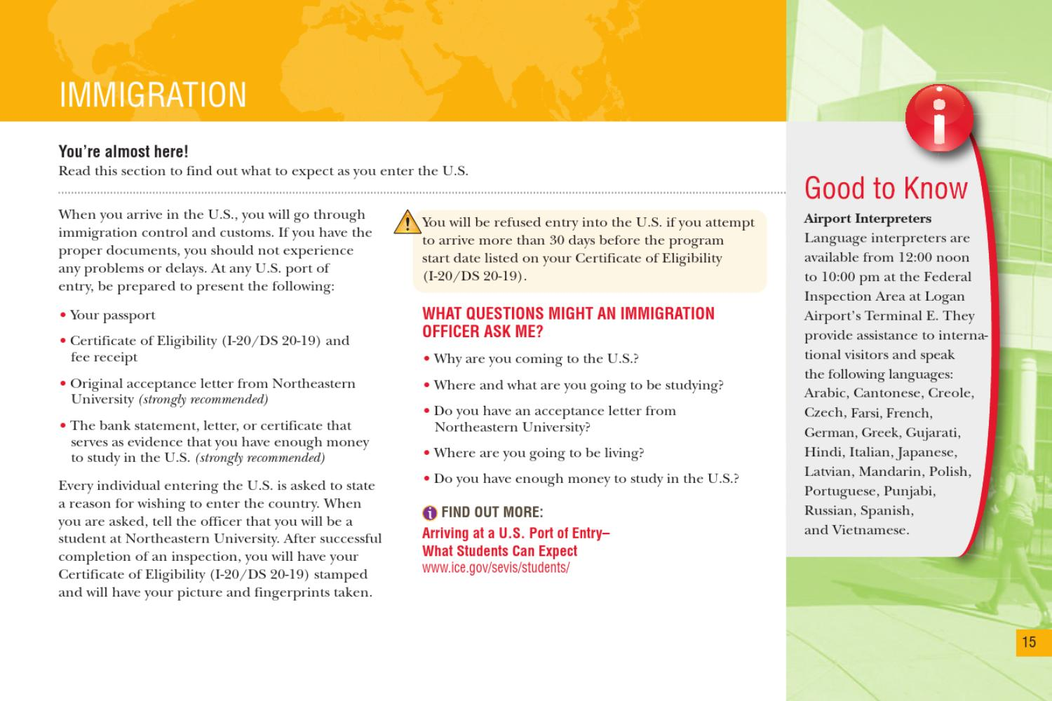 Northeastern University Pre-Arrival Guide by College of Professional