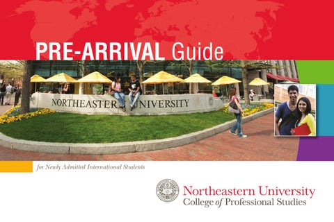 Northeastern University Pre Arrival Guide By College Of Professional