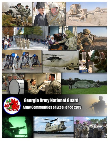 GEORGIA ARMY NATIONAL GUARD FY 13 ARMY COMMUNITIES OF EXCELLENCE AWARD