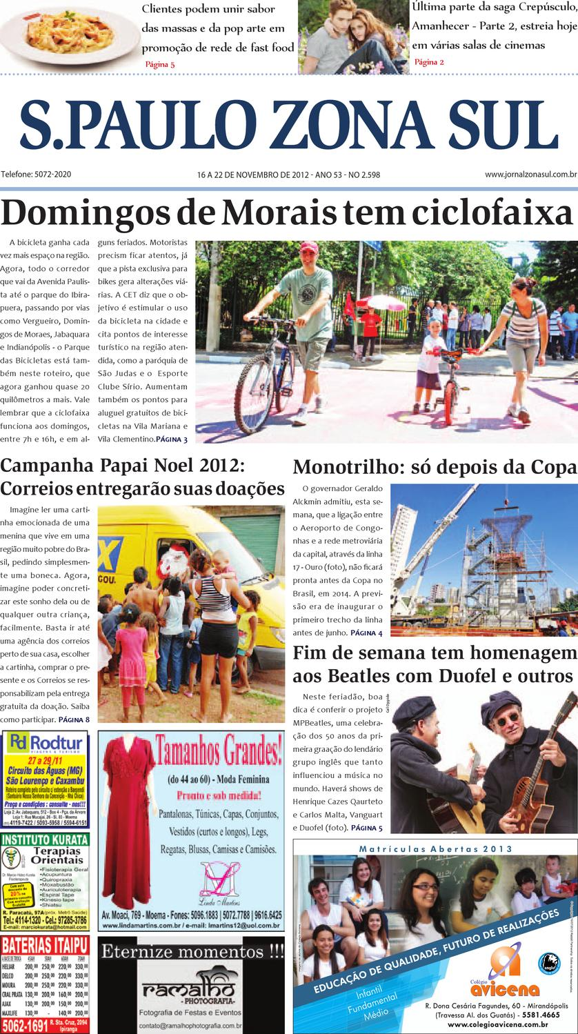 a69a77990 16 a 22 de novembro de 2012 - Jornal São Paulo Zona Sul by Jornal Zona Sul  - issuu