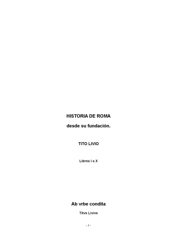 Historia de Roma by Alvaro Jimenez - issuu