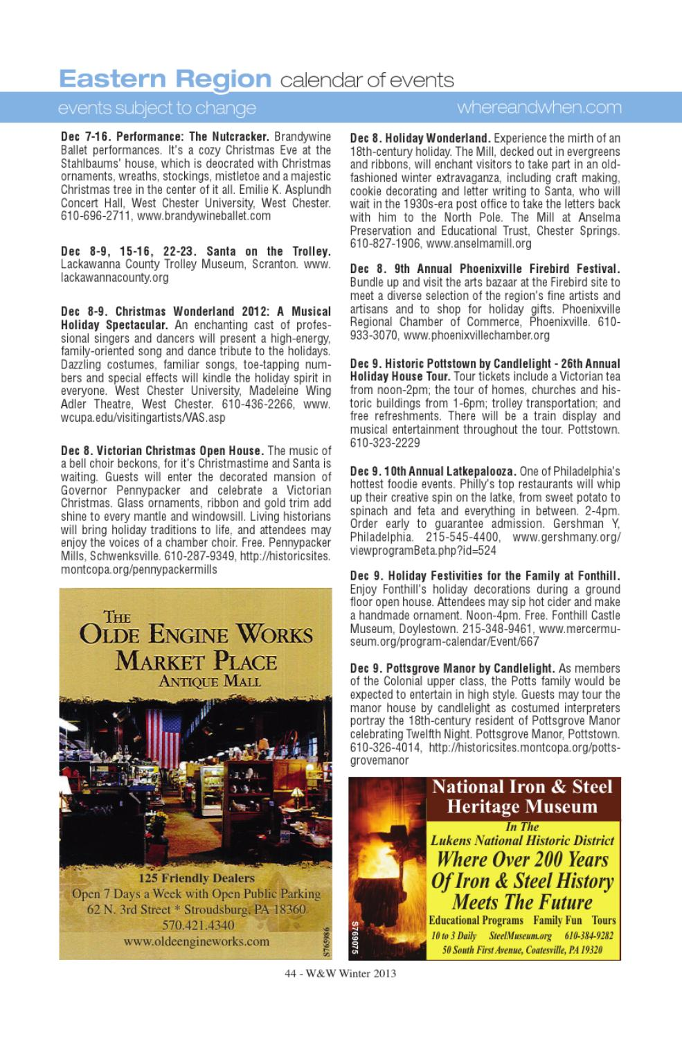 Where When Pennsylvania S Travel Guide Winter 2013 By Where
