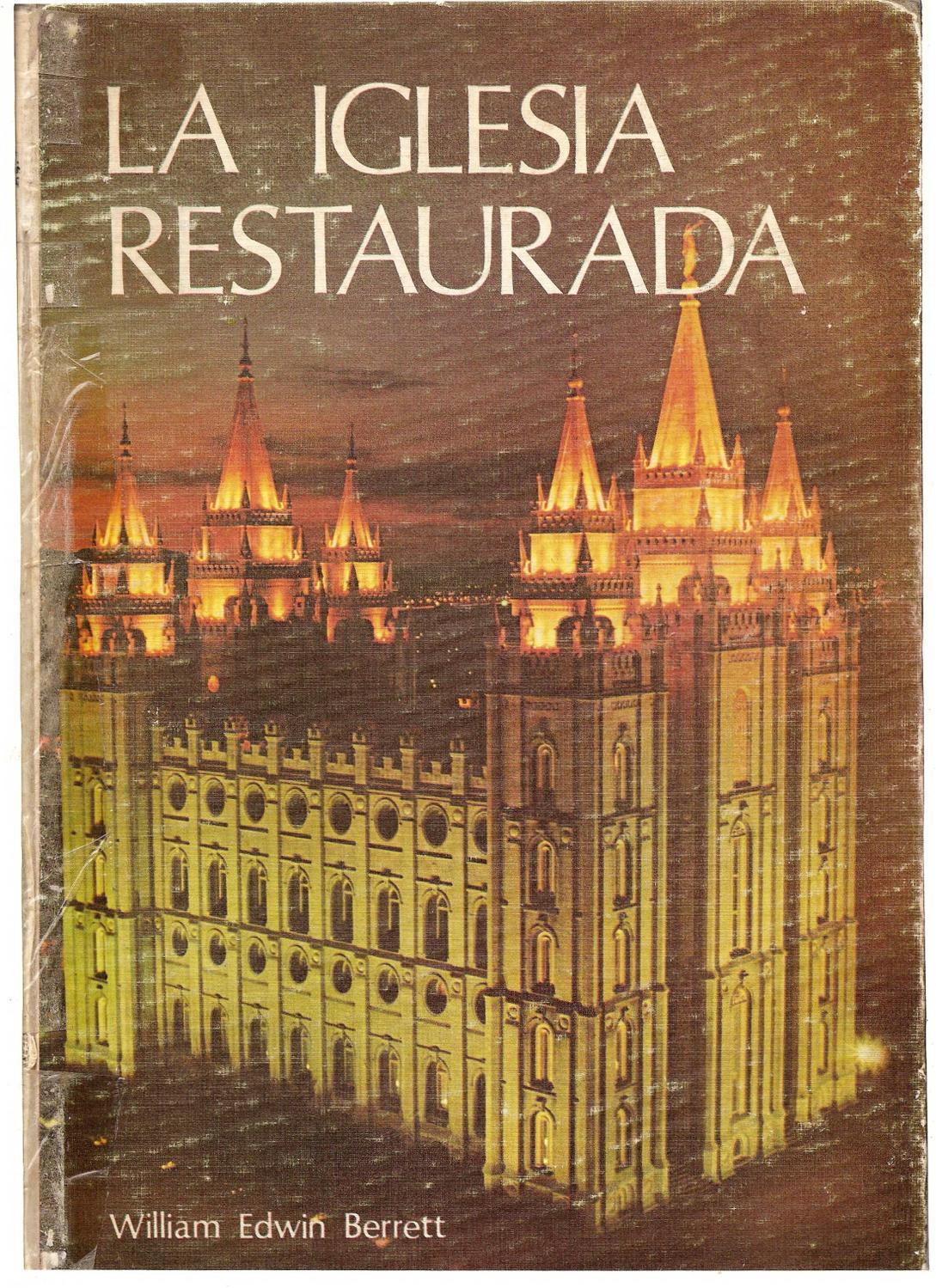 LA IGLESIA RESTAURADA by Ladislao Kangyera - issuu 47ea1090dfc9