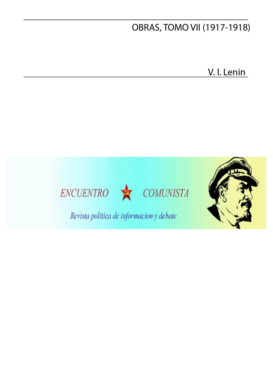 Lenin Obras escogidas VII by Juan Carlos Perez - issuu