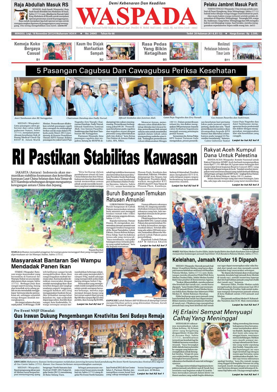 Waspada Minngu 25 November 2012 By Harian Issuu Mesin Untuk Membungkus Makanan Hand Wrapping Sat Hw450starpack Minggu 18