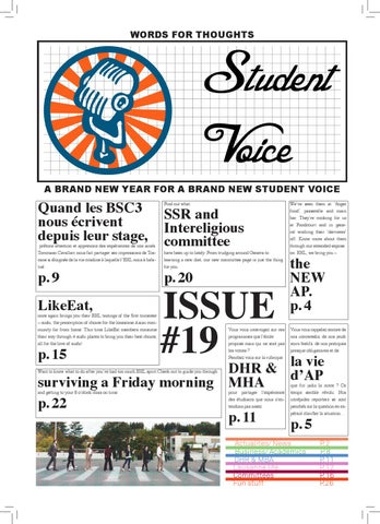 SV 19 - A brand new year for a brand new Student Voice by Adrian Ion ...