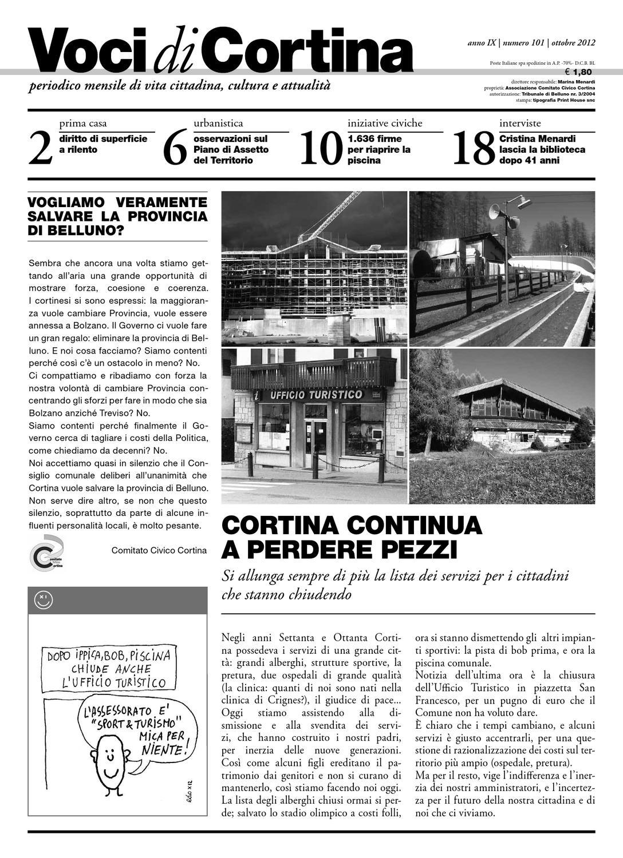 ed37eec7e801f Voci di Cortina - Ottobre 2012 by Voci di Cortina - issuu