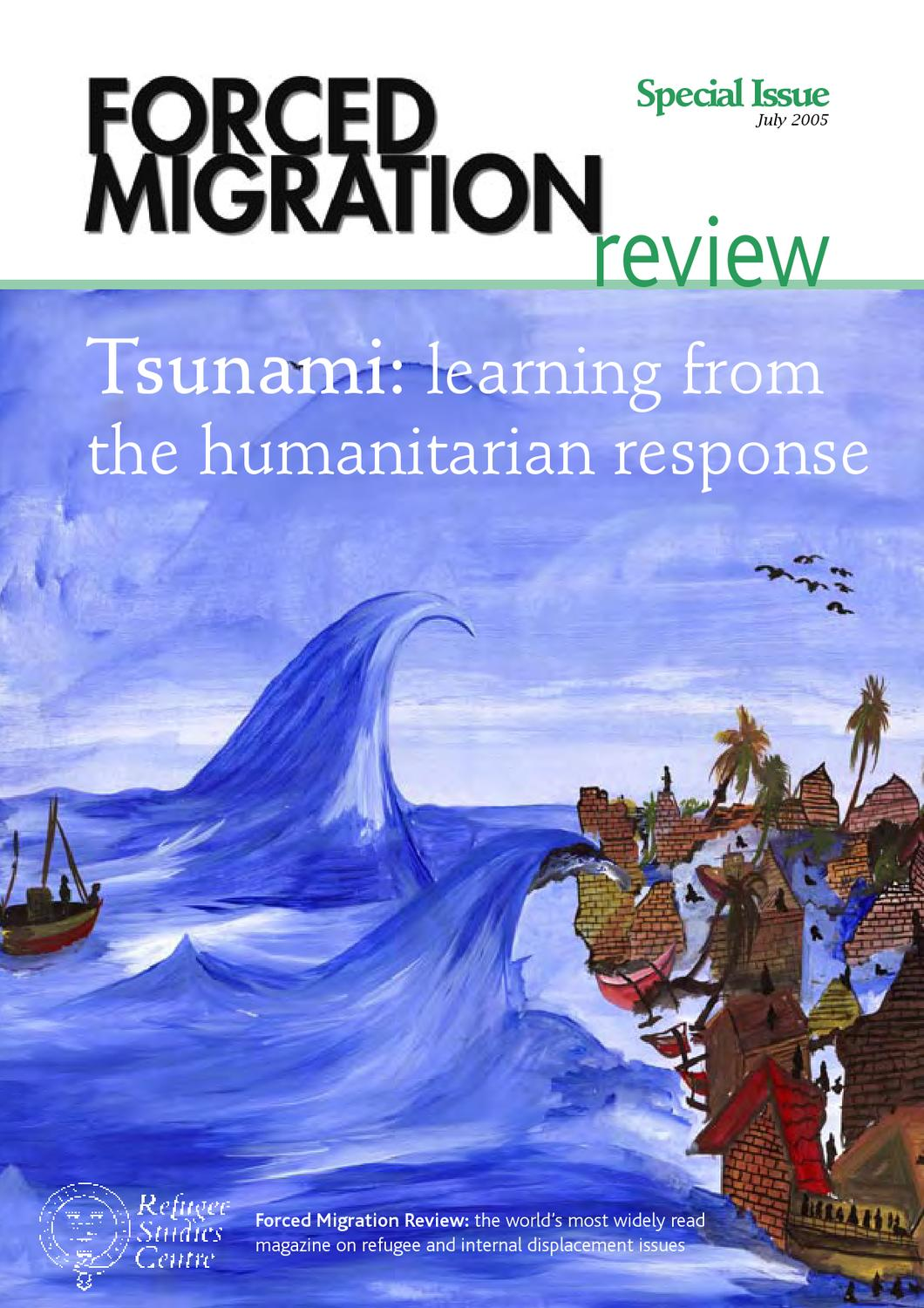 Tsunami: learning from the humanitarian response by Forced Migration