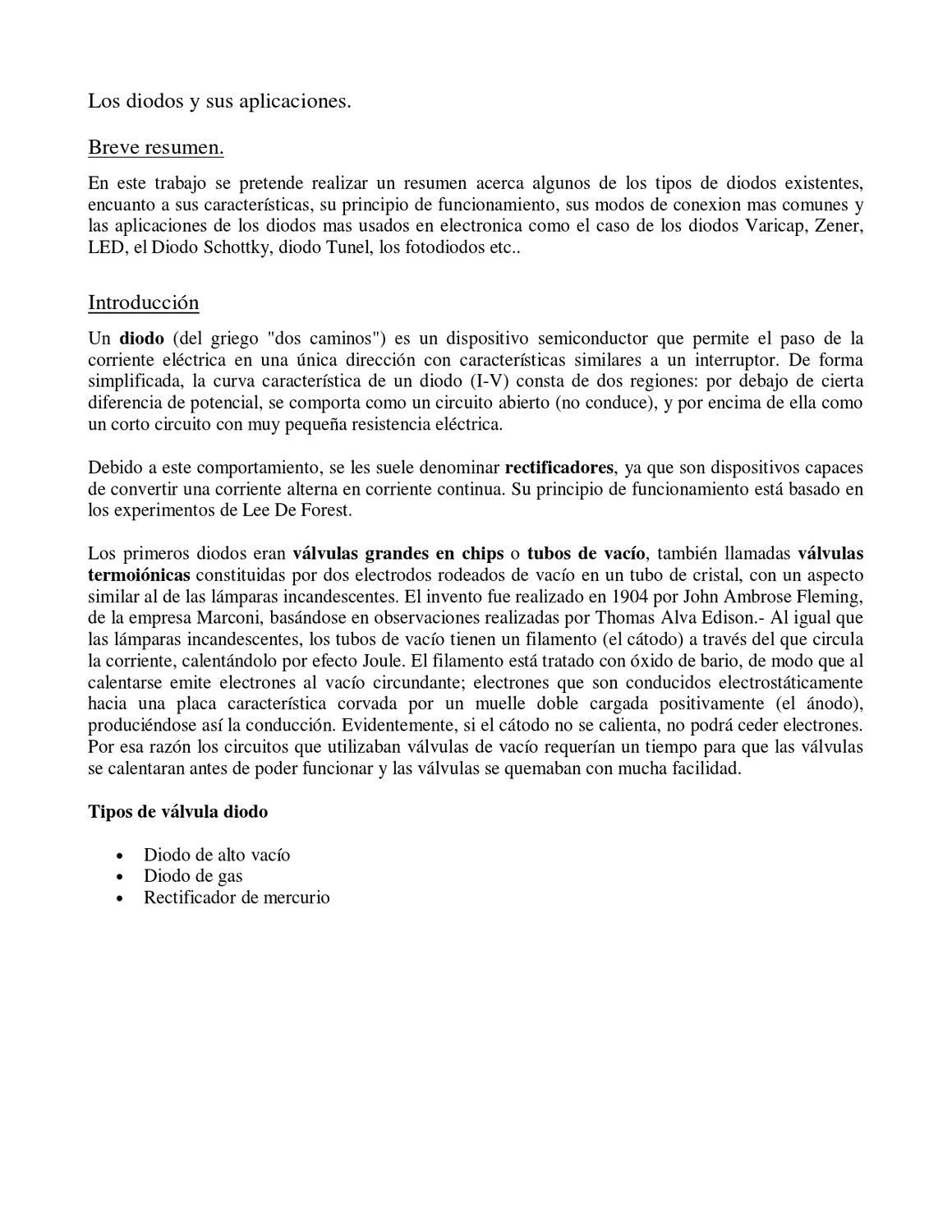 Circuito Zener : Diodo rectificador by patricio castillo issuu