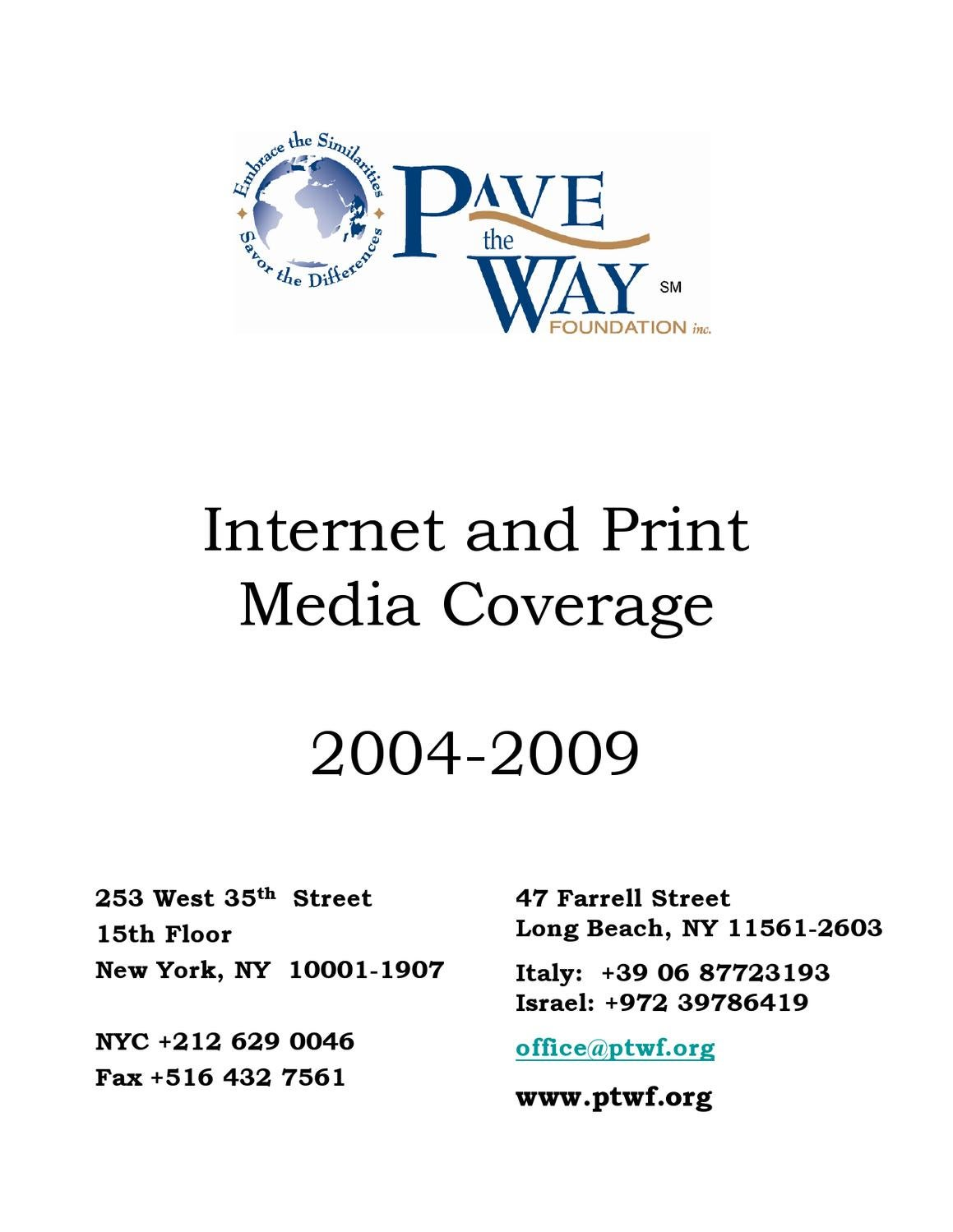 PTWF Press Coverage 2004 to 2009 Part 2 by Dennis Tritaris - issuu