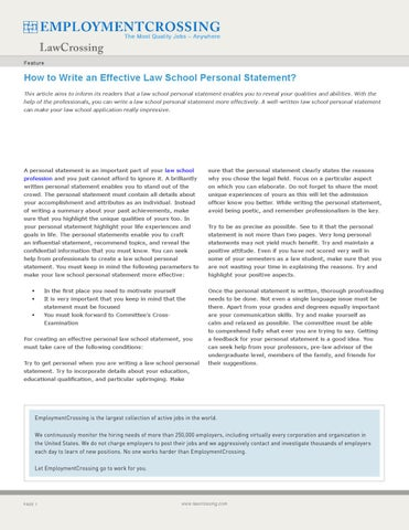 how to start a law school personal statement