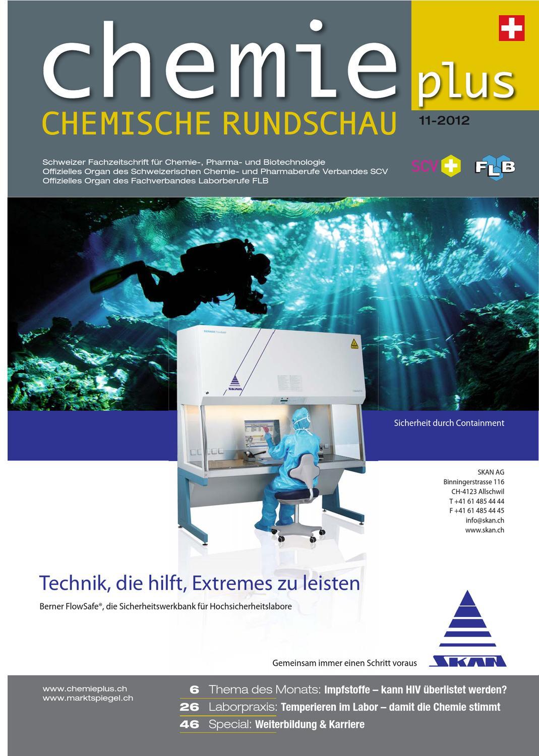 Chemieplus 2012/11 by AZ Fachverlage AG - issuu