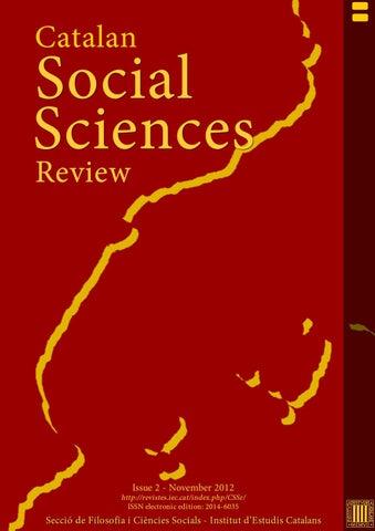 Catalan Social Sciences Review By Institut D Estudis Catalans Issuu