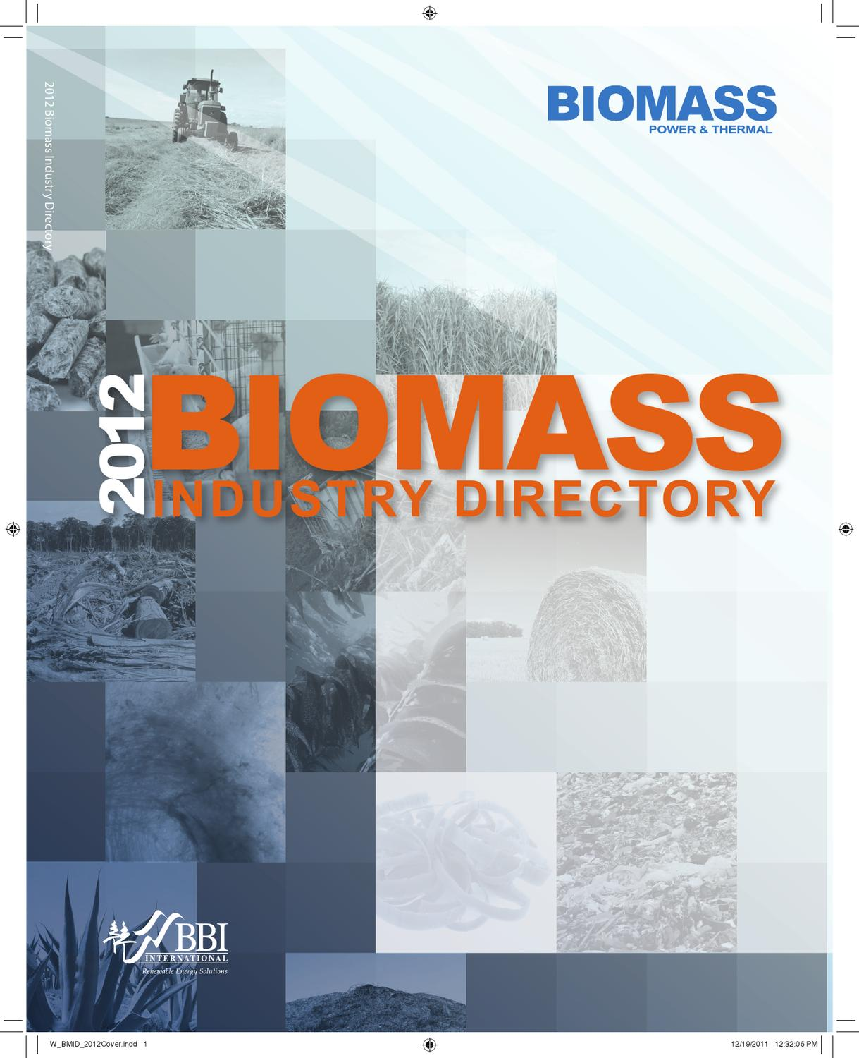 2012 Biomass Industry Directory by BBI International - issuu