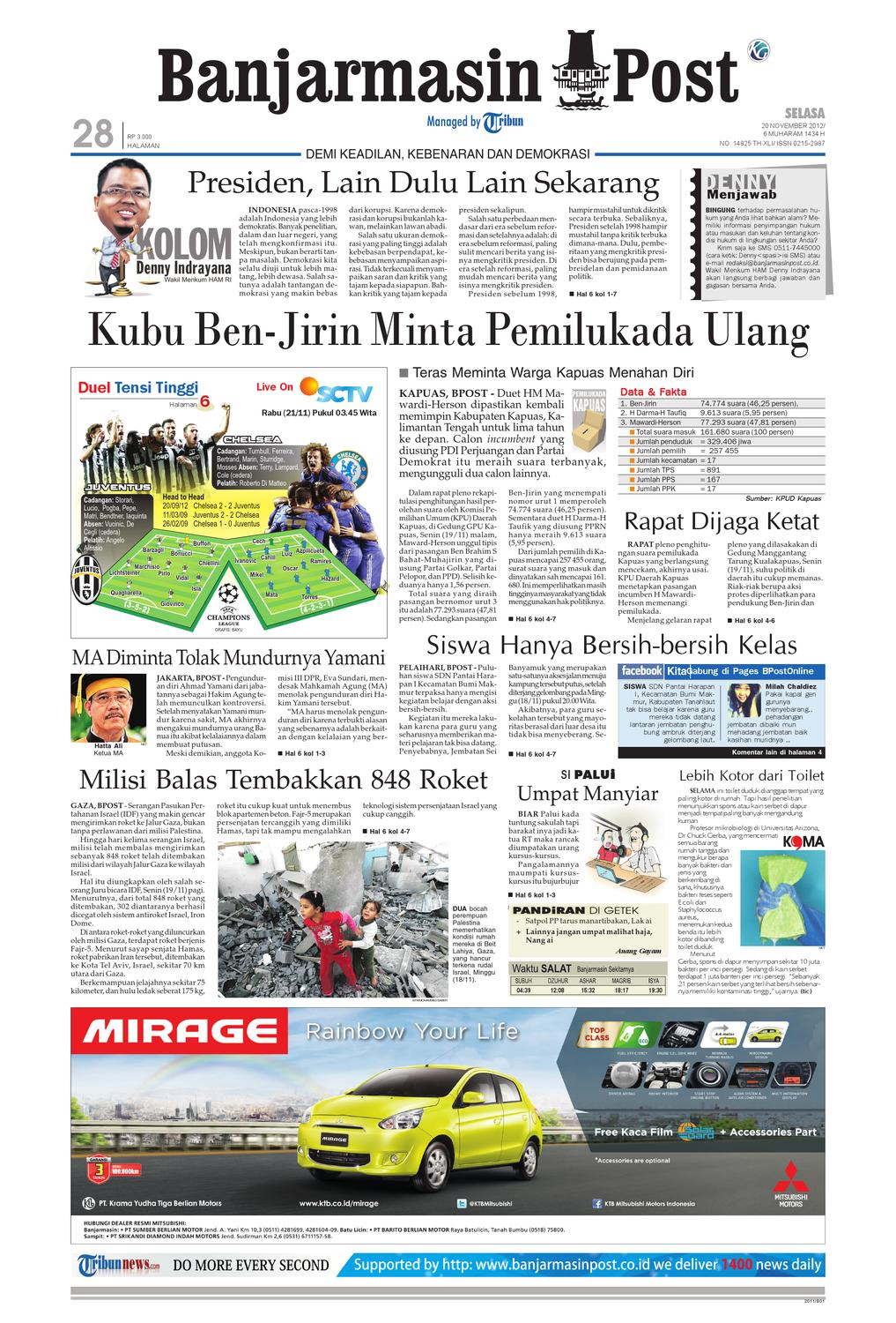 Banjarmasin Post Edisi Selasa 20 November 2012 By Stiker Acil Versi Wanita Issuu