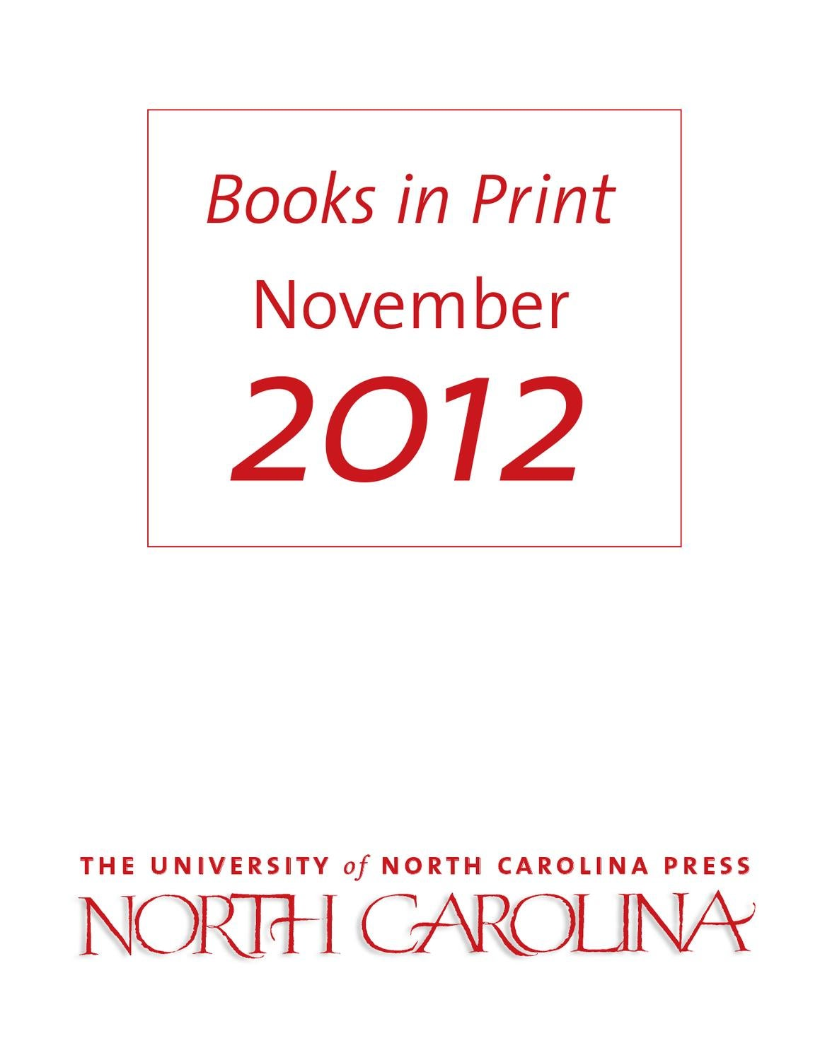 Unc press bip november 2012 by the university of north carolina unc press bip november 2012 by the university of north carolina press issuu fandeluxe Gallery