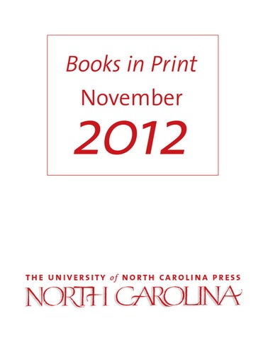 Unc press bip november 2012 by the university of north carolina page 1 fandeluxe Choice Image