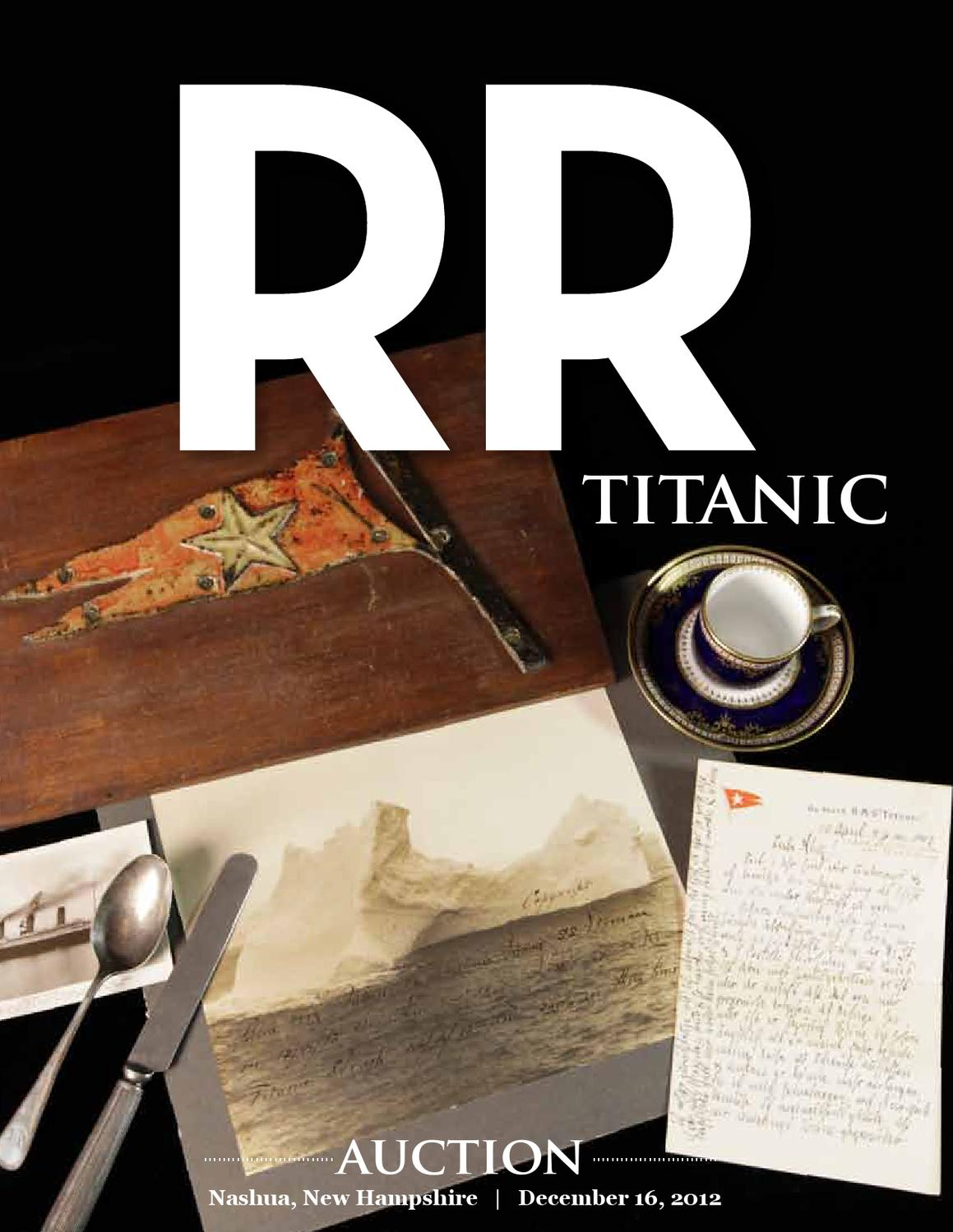Live event titanic auction december 16 in nashua nh by rr live event titanic auction december 16 in nashua nh by rr auction issuu aiddatafo Images