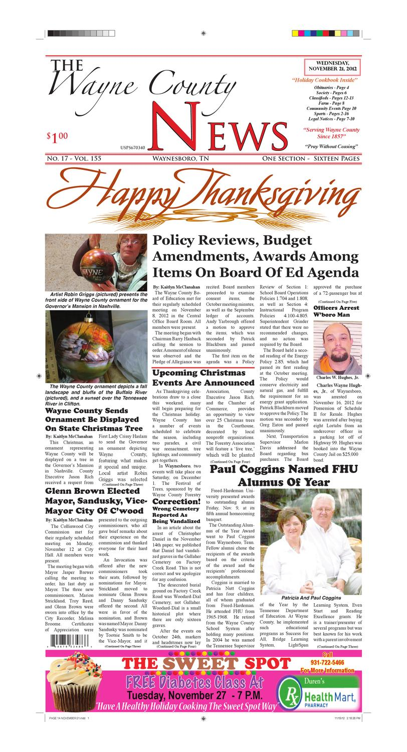 Wayne County News 11-21-12 by Chester County Independent - issuu