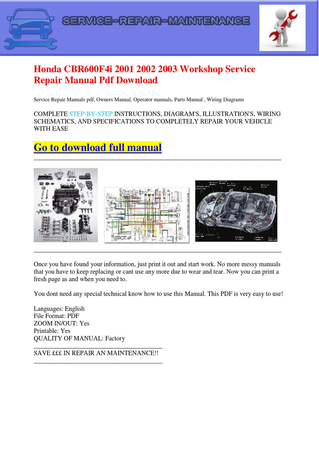 02 f4i service manual complete digital written for you it its in here great deals on for cbr also for 02 cbr 954 service manual manual books renewcare co uk