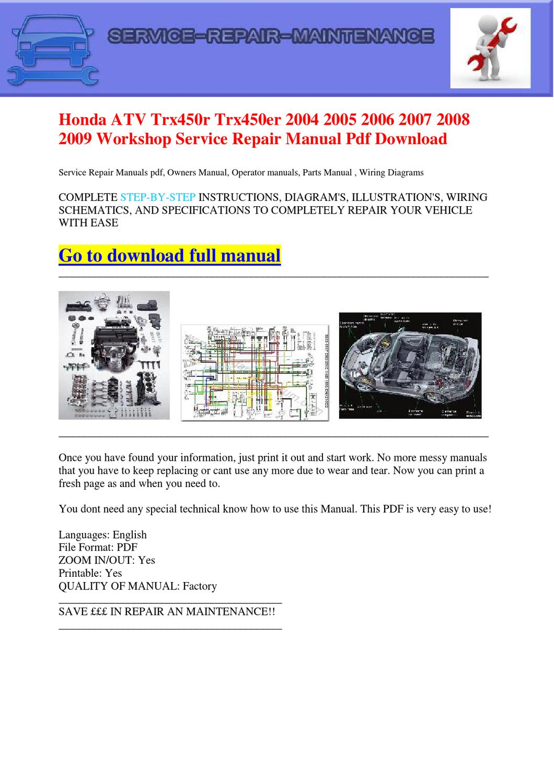 2009 honda rubicon service manual pdf