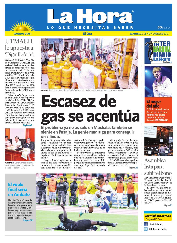 Diario La Hora El Oro 20 de Noviembre 2012 by Diario La Hora Ecuador - issuu 5f007994d4e5