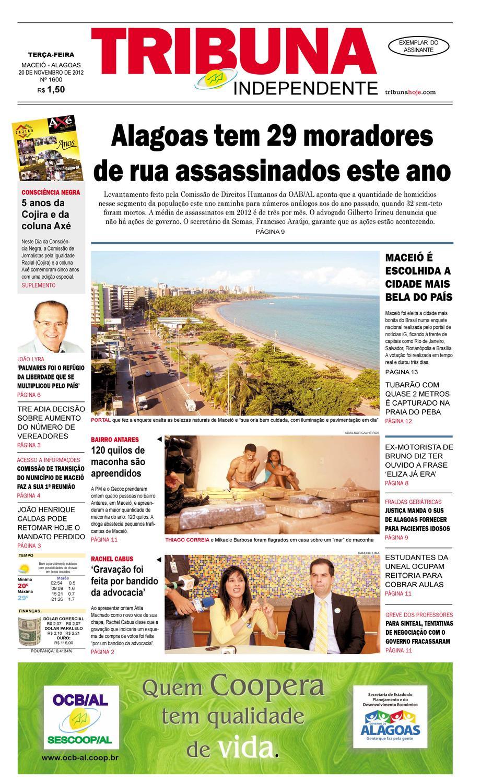Edição número 1600 20 de novembro de 2012 by Tribuna Hoje