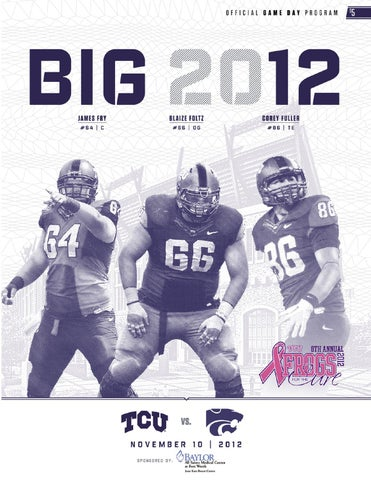 2451e90bc 2012-13 TCU Football Game Day Program - Kansas State by TCU ...