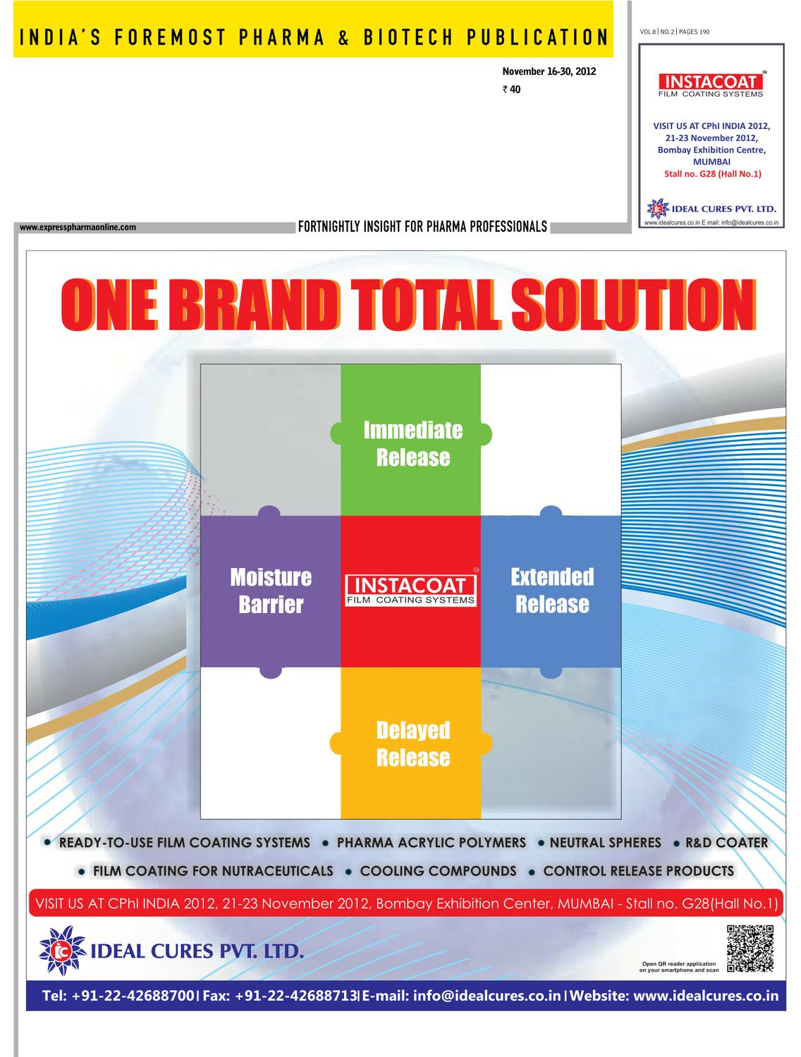 Express Pharma November 16-30, 2012 Part - 1 by Indian Express - issuu