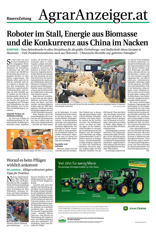 Agraranzeiger Kw 47 by Dominik Merl - issuu