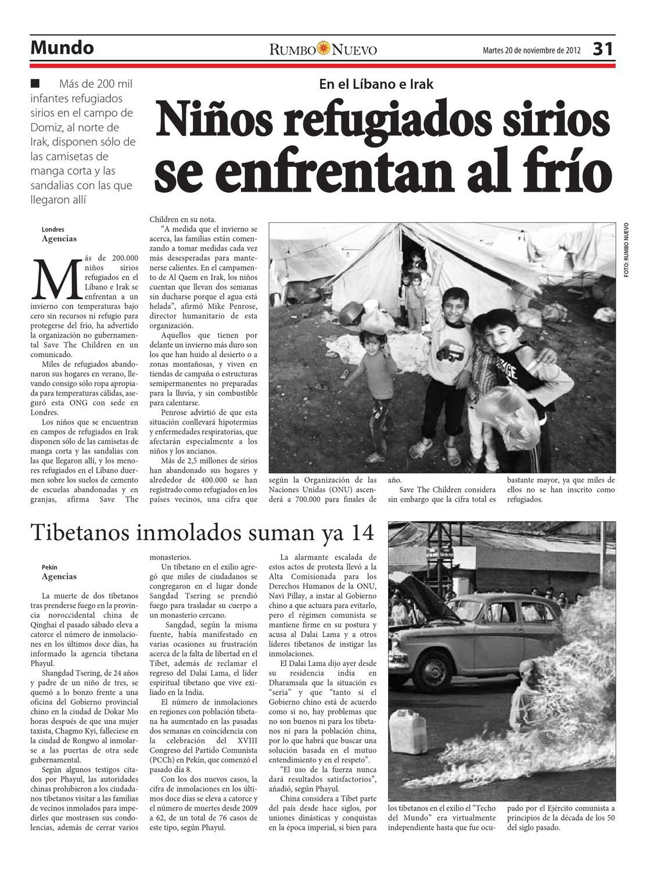 Nuevo 2012 20 Noviembre De Rumbo Martes VzSMpU