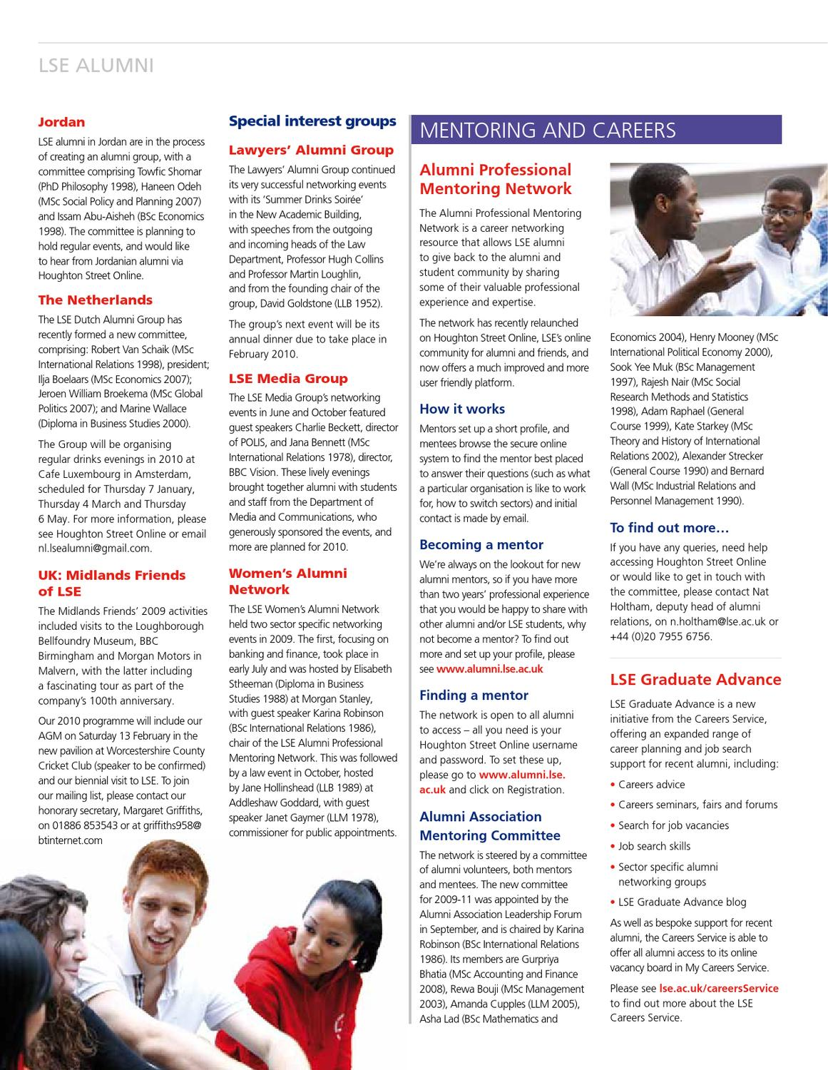 LSE Connect Winter 2009 by London School of Economics - issuu