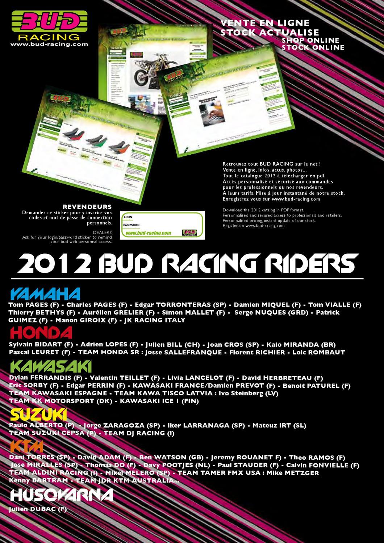 Catalogue Bud Racing 2012 by BUD RACING - issuu