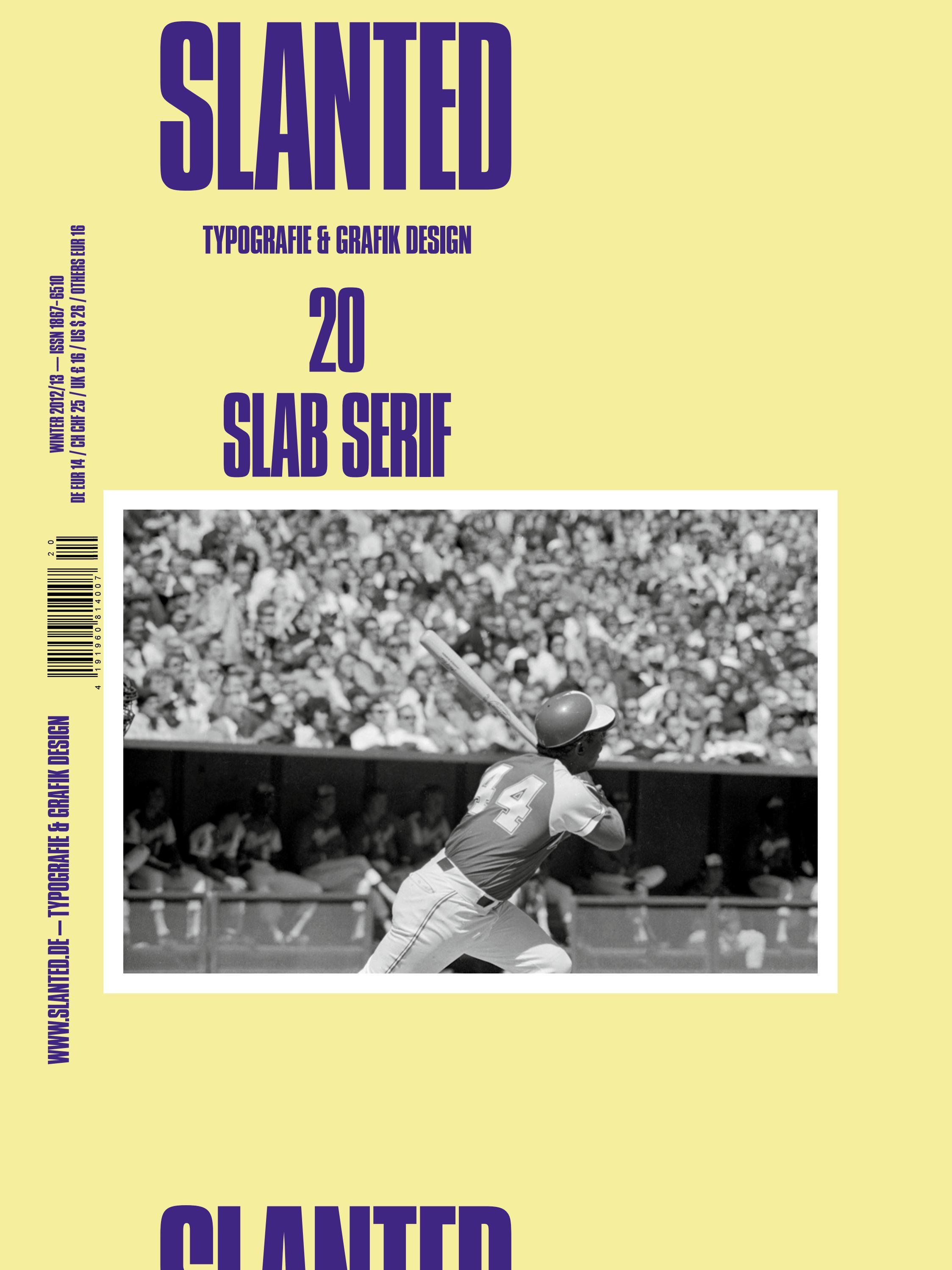 Slanted Magazine #20 – Slab Serif by Slanted Typography and Design ...