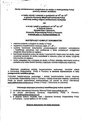 Informacje Dotyczace S Uzby W Policjiinformacje20dotyczc485ce20s