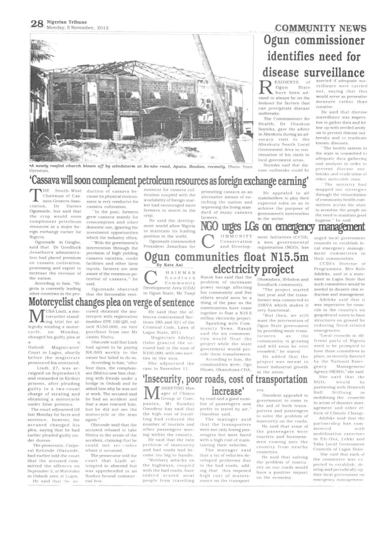 NIGERIAN TRIBUNE, 05 NOVEMBER, 2012 by International Institute of ...
