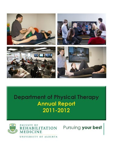 U of A Department of Physical Therapy Annual Report 2011