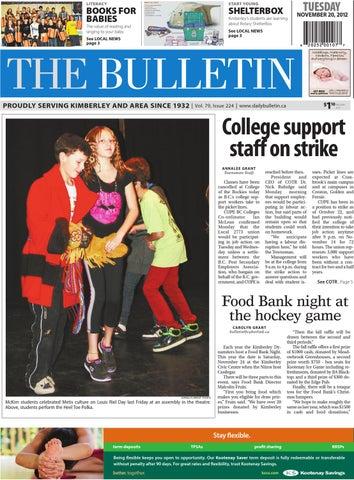 Kimberley Daily Bulletin, November 20, 2012