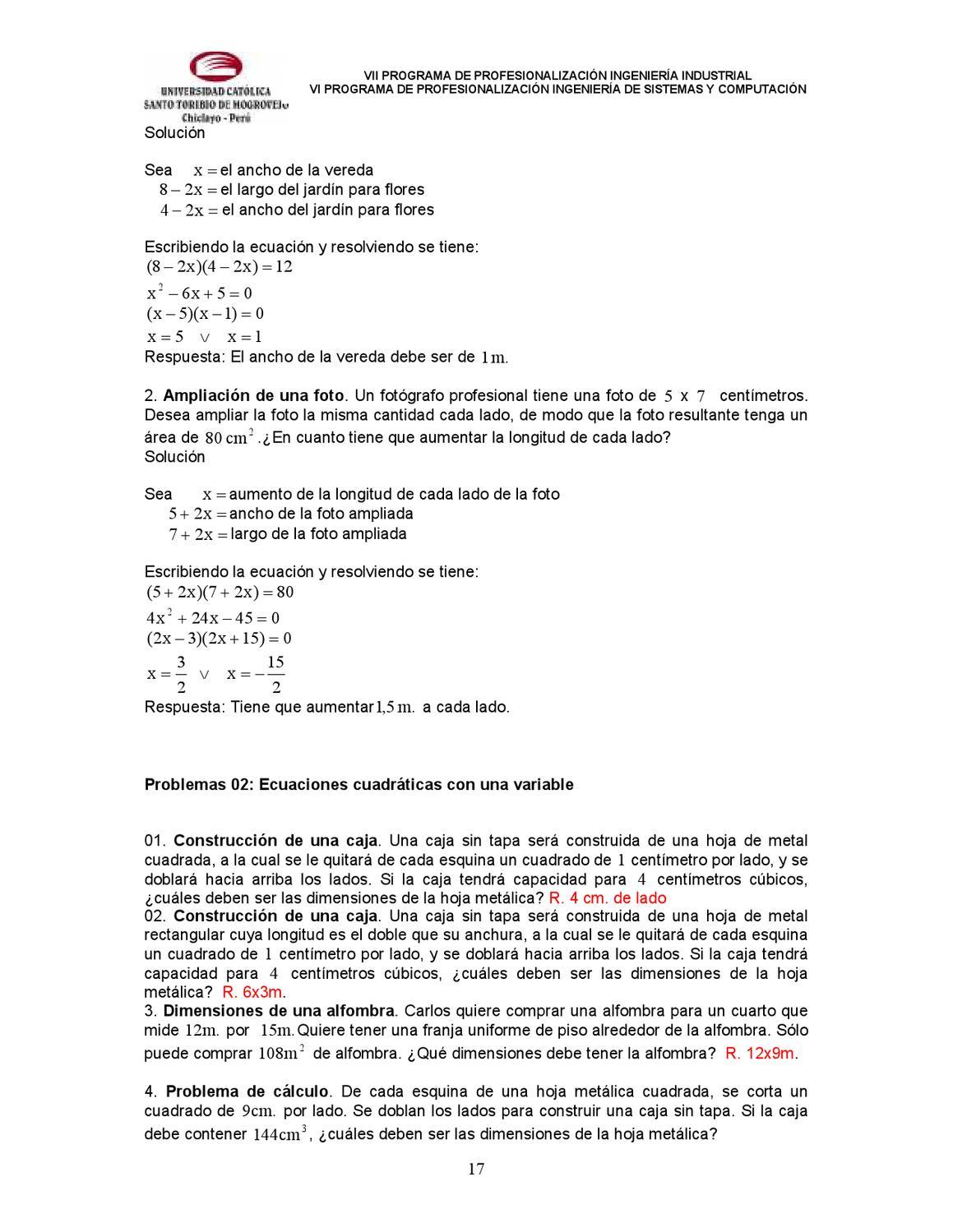 ECUACIONES LINEALES Y CUADRATICAS by David Gonzales - issuu