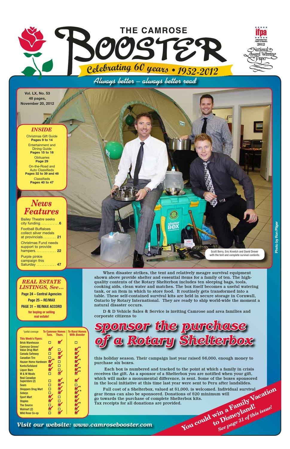 The Camrose Booster, November 20, 2012 by The Camrose Booster - issuu