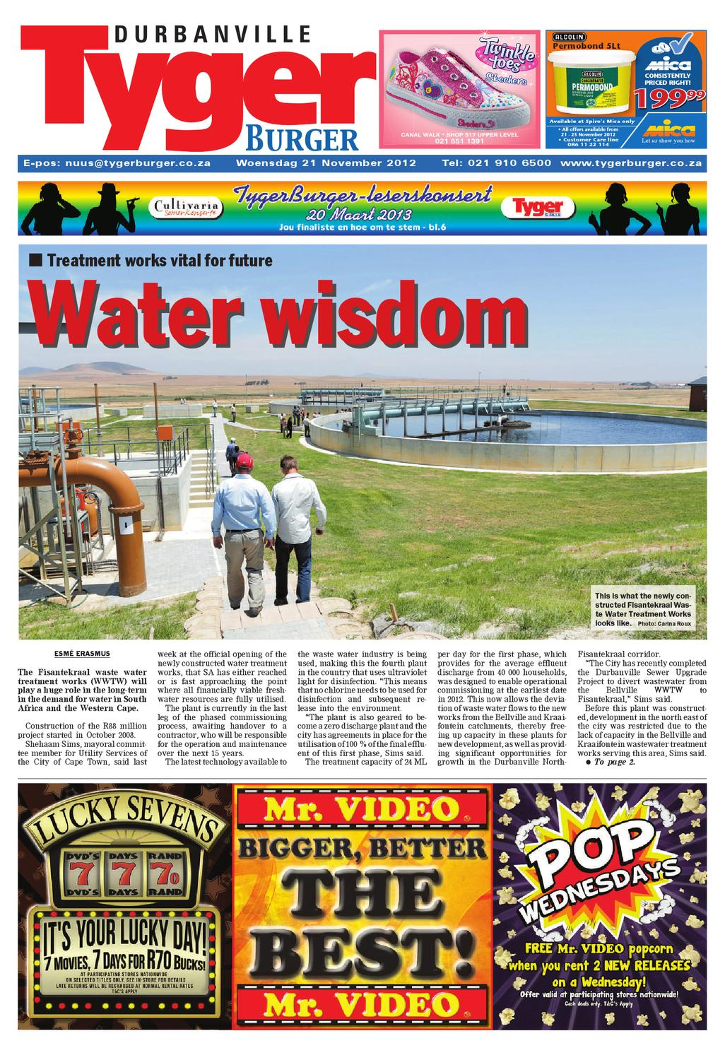 Tygerburger Durbanville 21 November 2012 by Tygerburger Newspaper