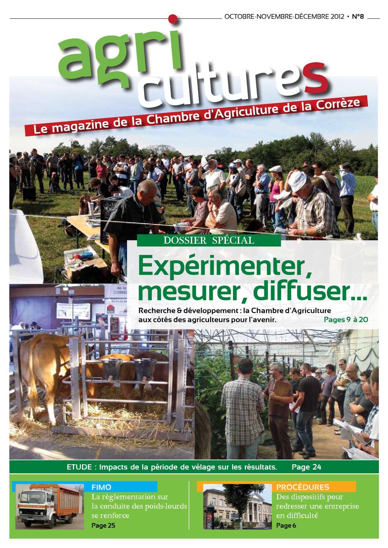 Agri cultures n 8 le magazine de la chambre d 39 agriculture de la corr ze by dumas amarie issuu - Chambre d agriculture correze ...