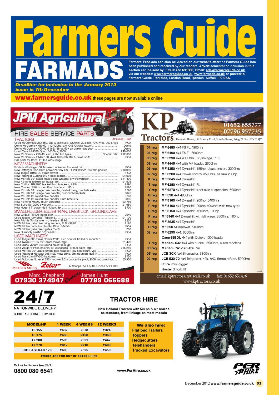 Farmers Guide Classified - December 2012 by Farmers Guide