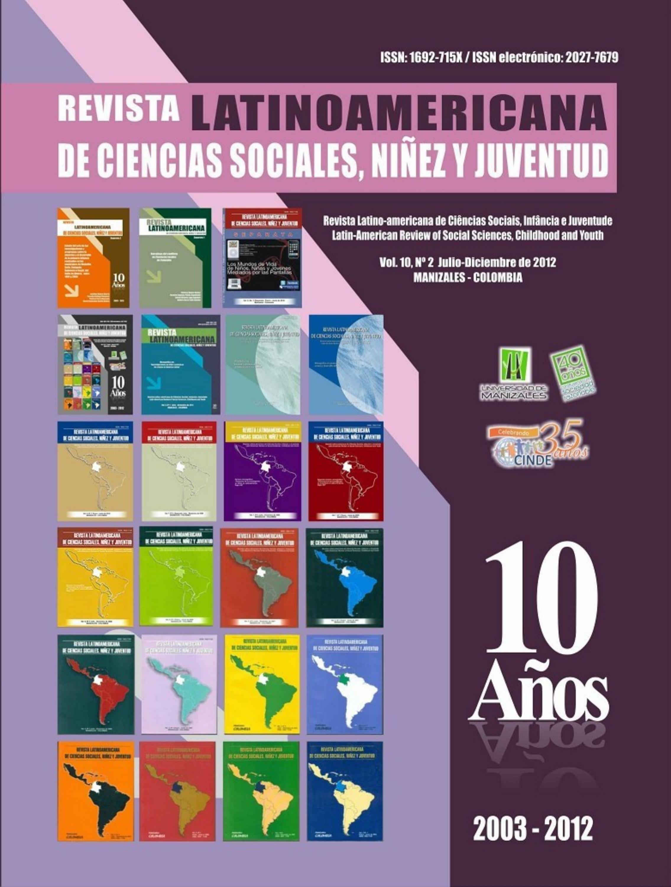 Revista Latinoamericana de Ciencas Sociales, Niñez y Juventud by ...