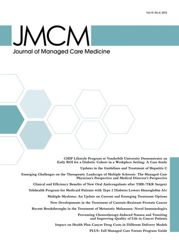 Journal of managed care medicine volume 15 number 4 by jeremy page 1 fandeluxe Images